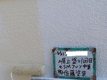 塀 上塗り1回目