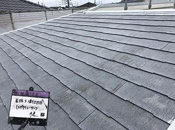 屋根 下塗り2回目