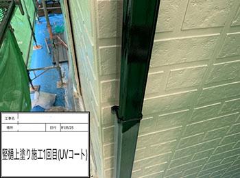 竪樋 塗装1回目